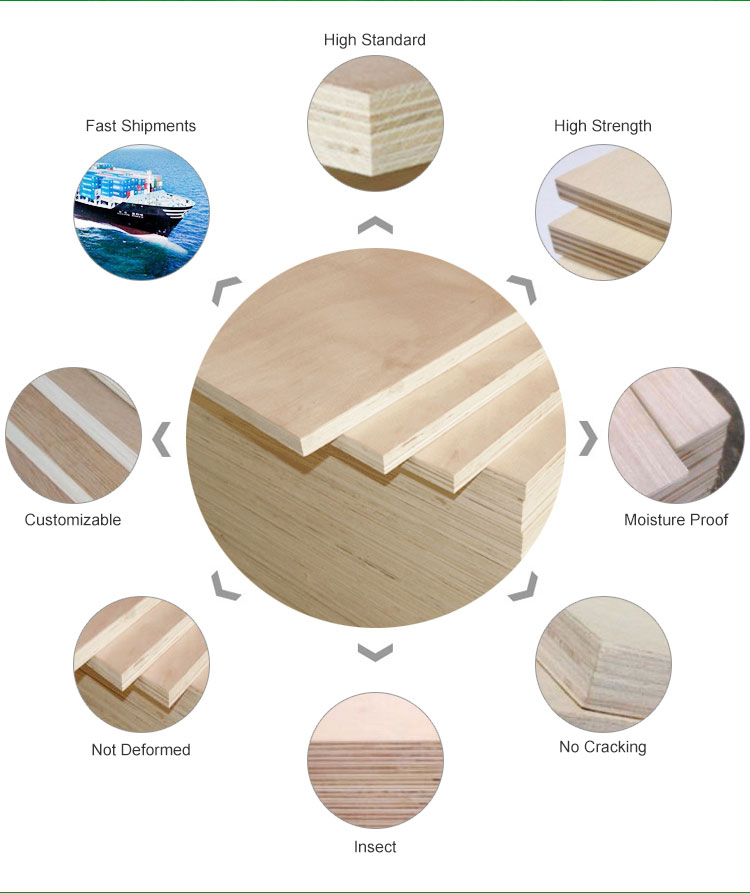 good price poplar commercial plywood (图4)